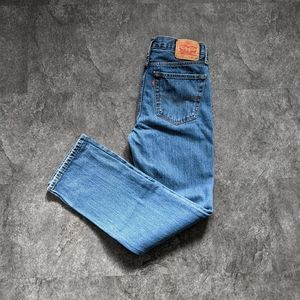 Levi's 516 classic mid wash slim strait leg jeans
